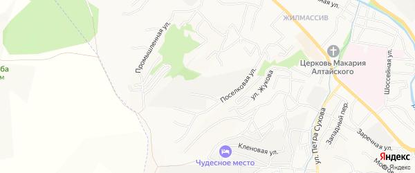 Садовое товарищество Автомобилист на карте Горно-Алтайска с номерами домов