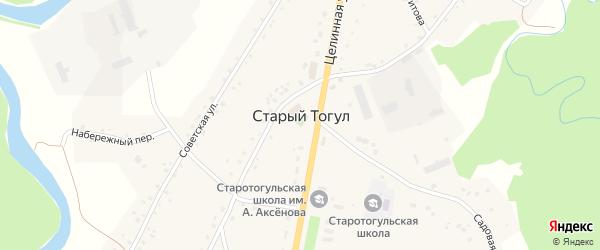 Целинный переулок на карте села Старого Тогула Алтайского края с номерами домов