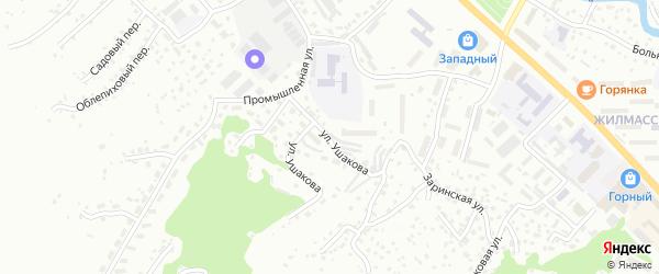 Улица Ушакова на карте Горно-Алтайска с номерами домов
