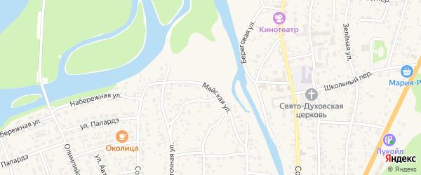 Майская улица на карте села Майма Алтая с номерами домов