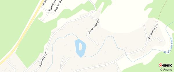 Заречная улица на карте деревни Старой Балахонки Кемеровской области с номерами домов