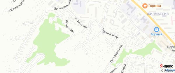 Коксинский переулок на карте Горно-Алтайска с номерами домов