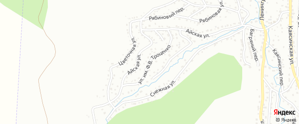Улица имени Ф.В.Троценко на карте Горно-Алтайска с номерами домов