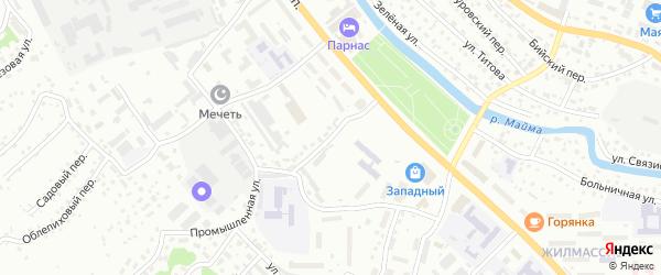 Технологический переулок на карте Горно-Алтайска с номерами домов
