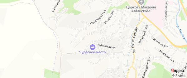Садовое товарищество Вишенка на карте Горно-Алтайска с номерами домов