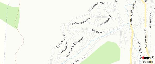 Ануйский переулок на карте Горно-Алтайска с номерами домов