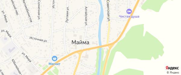 Алтайский переулок на карте села Майма Алтая с номерами домов