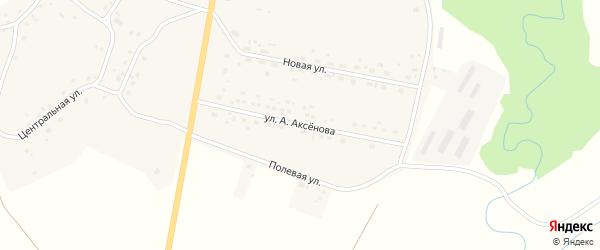 Улица им Александра Аксенова на карте села Старого Тогула Алтайского края с номерами домов