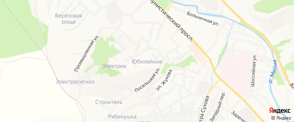 Юбилейное садовое товарищество на карте Горно-Алтайска с номерами домов
