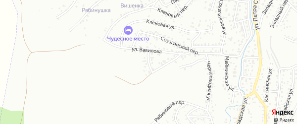 Переулок Вавилова на карте Горно-Алтайска с номерами домов