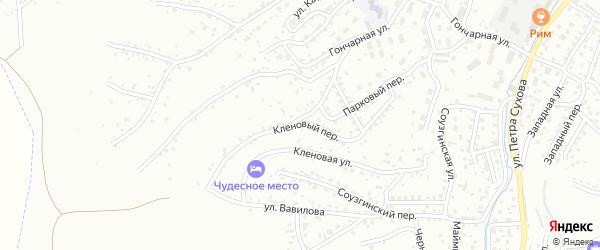 Кленовый переулок на карте Горно-Алтайска с номерами домов