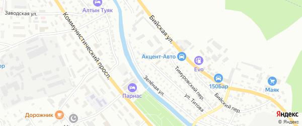 Улица Титова на карте Горно-Алтайска с номерами домов