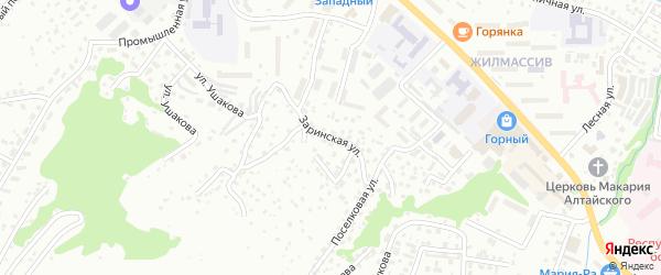 Заринская улица на карте Горно-Алтайска с номерами домов
