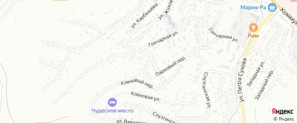Пихтовый переулок на карте Горно-Алтайска с номерами домов