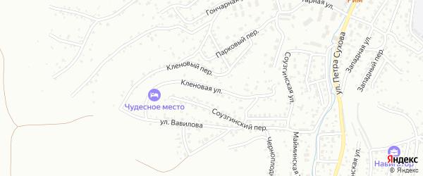Кленовая улица на карте Горно-Алтайска с номерами домов