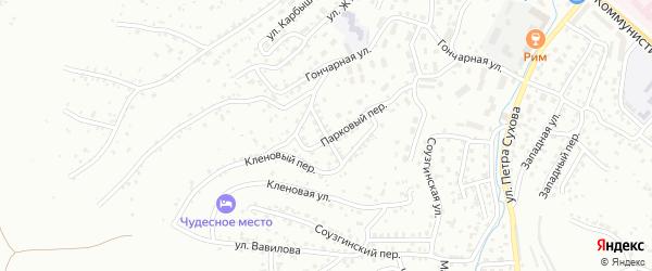 Кедровый переулок на карте Горно-Алтайска с номерами домов
