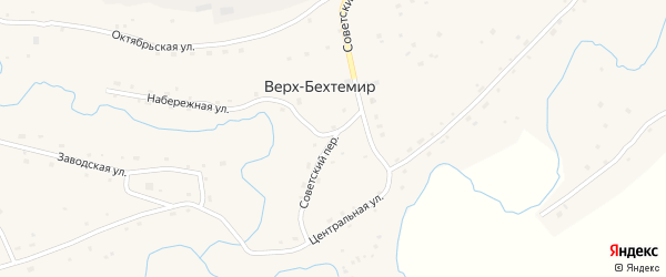 Советский переулок на карте села Верха-Бехтемира с номерами домов