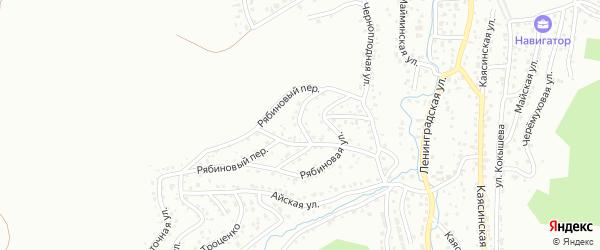 Цветочный переулок на карте Горно-Алтайска с номерами домов