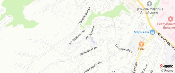 Улица Имени маршала Г.К.Жукова на карте Горно-Алтайска с номерами домов