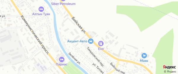 Бийская улица на карте Горно-Алтайска с номерами домов