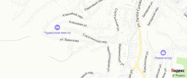 Соузгинский переулок на карте Горно-Алтайска с номерами домов