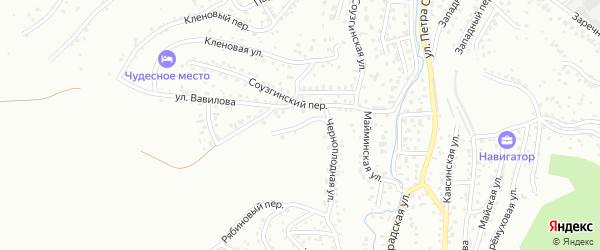 Черноплодный переулок на карте Горно-Алтайска с номерами домов