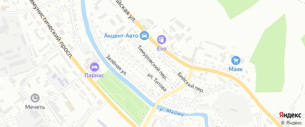 Тимуровский переулок на карте Горно-Алтайска с номерами домов