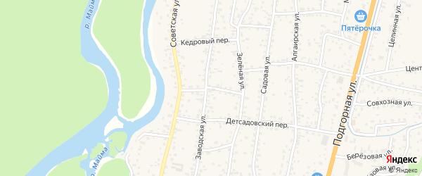 Парковый переулок на карте села Майма Алтая с номерами домов