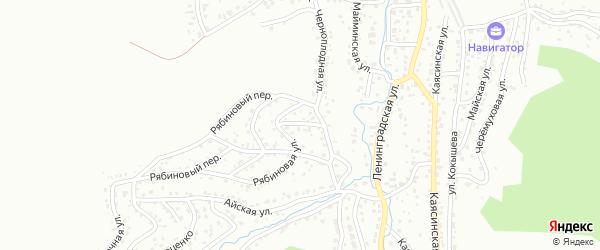 Васильковый переулок на карте Горно-Алтайска с номерами домов