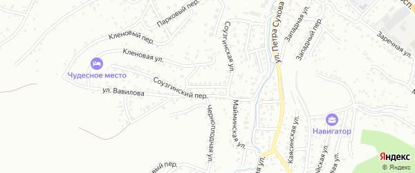 Вековой переулок на карте Горно-Алтайска с номерами домов