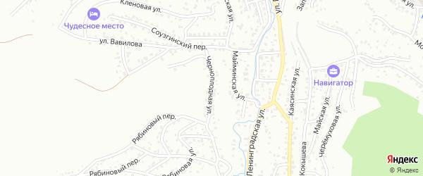 Черноплодная улица на карте Горно-Алтайска с номерами домов