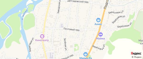 Почтовый переулок на карте села Майма Алтая с номерами домов
