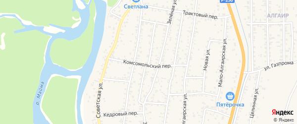 Пионерская улица на карте села Майма Алтая с номерами домов