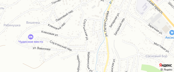 Соузгинская улица на карте Горно-Алтайска с номерами домов