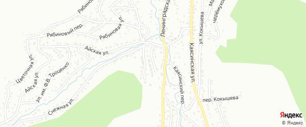 Багряный переулок на карте Горно-Алтайска с номерами домов