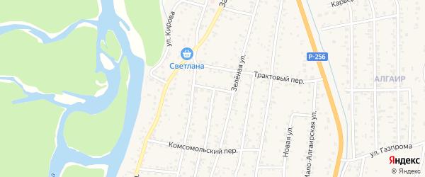 Пионерский переулок на карте села Майма Алтая с номерами домов