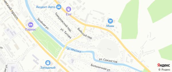 Бийский переулок на карте Горно-Алтайска с номерами домов