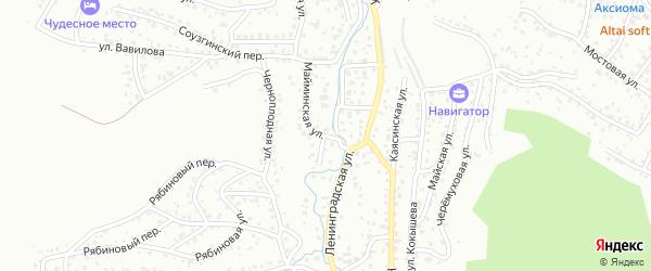 Майминская улица на карте Горно-Алтайска с номерами домов