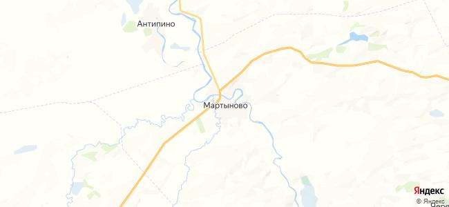 Мартыново на карте