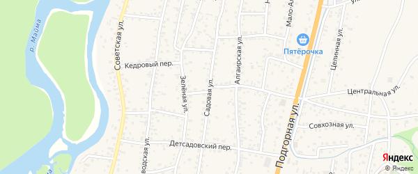 Садовая улица на карте села Майма Алтая с номерами домов