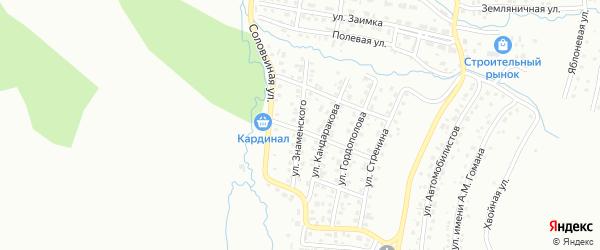 Улица имени Ю.С.Знаменского на карте Горно-Алтайска с номерами домов