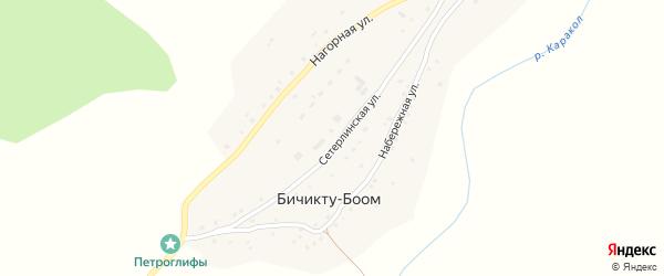 Сетерлинская улица на карте села Бичикту-Боома Алтая с номерами домов