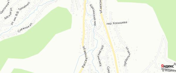 Зыбкий переулок на карте Горно-Алтайска с номерами домов