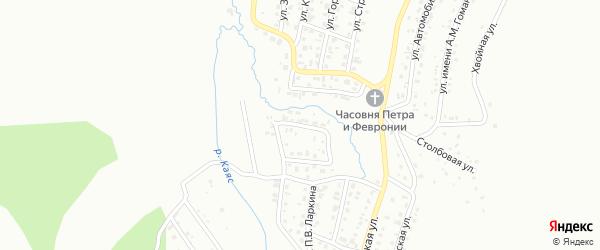 Переулок М.С.Евдокимова на карте Горно-Алтайска с номерами домов