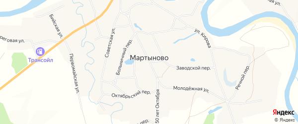 Карта села Мартыново в Алтайском крае с улицами и номерами домов