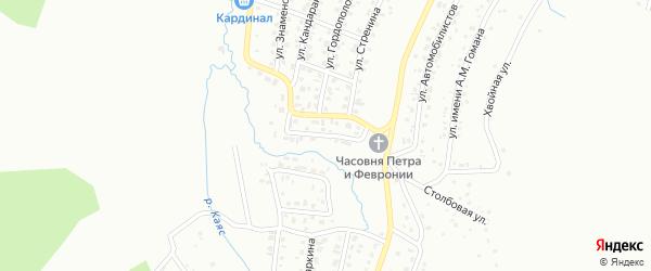 Соловьиный переулок на карте Горно-Алтайска с номерами домов
