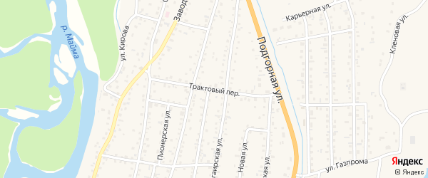 Трактовый переулок на карте села Майма Алтая с номерами домов