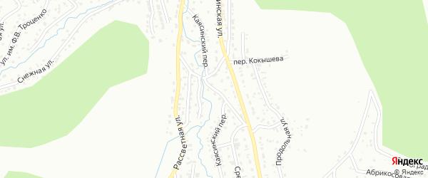 Каясинский переулок на карте Горно-Алтайска с номерами домов