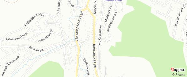 Каясинская улица на карте Горно-Алтайска с номерами домов