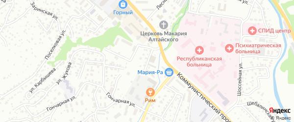 Гончарный переулок на карте Горно-Алтайска с номерами домов
